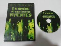 LA NOCHE DE LOS MUERTOS VIVIENTES DVD SLIM GEORGE A. ROMERO ESPAÑOL