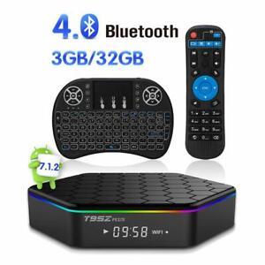 T95z Plus TV Box Amlogic s912 Android 7.1 Octa Core 3gb/32gb 4k WiFi & Tastatur