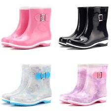 Womens Lady Wellies Wellingtons Boots Rainy Shoes Fit Winter Snow Outdoor Size