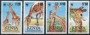 [E14186] Kenya WWF - GIRAFFES - WILD ANIMALS Good set of stamps very fine MNH