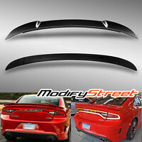 FACTORY STYLE PRIMED GROSS BLACK REAR TRUNK SPOILER WING FOR 15-18 DODGE CHARGER