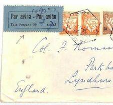 AV266 Portugal MOZAMBIQUE Taxe Perçue Label Cover 1937 Lourenço Marques Air Mail