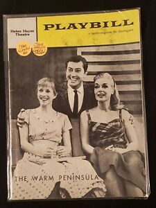 1960 PLAYBILL-HELEN HAYES THEATRE *THE WARM PENINSULA*HARRIS/HAGMAN/GLEASON AD*