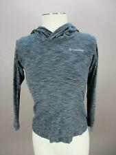 Columbia Size 10/12 Girls Gray 80% Cotton Athletic Outerwear Hoodie 640