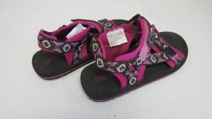 GYMBOREE Pink and Black Design Sandals Flip Flops Shoes Size 9/10 11/12 NEW