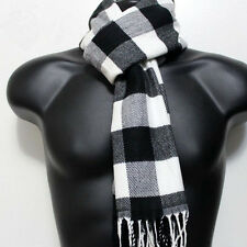 Unisex Tartan Checkered Cashmere Feel Scarf/Camel Grey Black White*100%Acrylic
