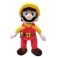 "Super Mario Maker Builder Mario Plush Toy Stuffed Animal Fireman Figure Doll 11"""