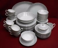 IMPERIAL Japan china WHITNEY 5671 pattern 76-piece SET SERVICE for 12 + Serving