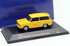 Trabant 601 Follow Me-DHL Hub Leipzig Année 2001 jaune 1:43 Ixo IST