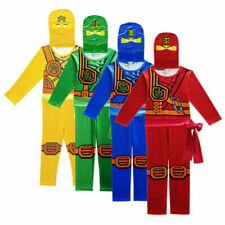 Kids Boys Ninjago Anime Costume Jumpsuit Cosplay Performance Fancy Dress Outfits