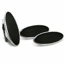 Oval Floor Mount Gas Pedal, Lg Oval Brake & Clutch Pad   Chromed Billet rod