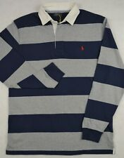 4d889184a 4xb 4xl Big Polo Ralph Lauren Mens Iconic Rugby Shirt Classic Fit Gray Navy