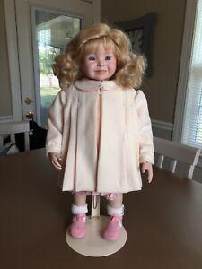 "1994 Dianna Effner Expressions Doll Kayla II Blue Eyes Blonde Hair 18"" w/Stand"