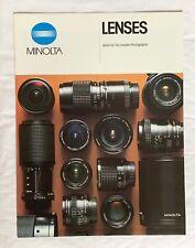 Minolta- Lenses, A4-Product Brochure