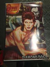 David Bowie Vintage Diamond Dogs Poster Ziggy Stardust Bowie Live