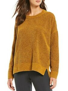Eileen Fisher Arnca Burnt Orange Crew Neck Box Top Woman Sweater- Size-XL - NWT