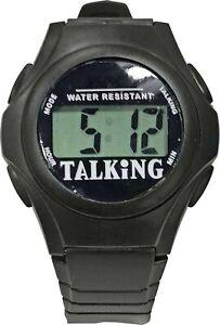 NEW ENGLISH TALKING WATCH LARGE LCD DIGITAL DISPLAY ALARM 10mt WATER RESISTANT