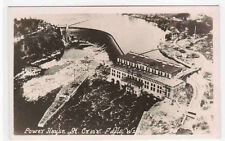 Power House Hydro Power Dam St Croix Falls Wisconsin RPPC postcard