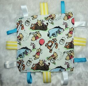 Baby Taggie | Taggy | Soft Toy | Sensory Blanket | Gift | Minky | Pooh Bear Fun