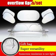 6pcs Car Window Sun Shade Foldable Windshield Full Shield Visor Block Cover O5