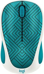 Logitech - Design Collection Wireless Optical Mouse Teal Maze 910-005838 NEW