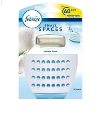 2 X FEBREZE SMALL SPACES AIR FRESHENER STARTER KIT COTTON FRESH 5.5ML