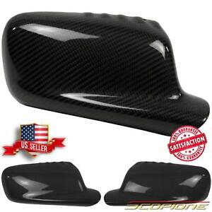 Scopione GLOSSY Carbon Fiber Mirrors Covers for 99-06 BMW 2 Door 3 Series - E46