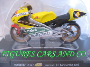 MOTO GP 1/18 APRILIA  RS 125 GP # 4 COLLECTION  ROSSI EUROPEAN CHAMPIONSHIP 1995