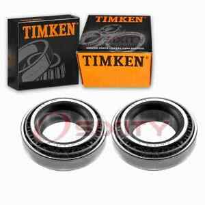 2 pc Timken Rear Inner Wheel Bearing and Race Sets for 1989 Geo Spectrum oz