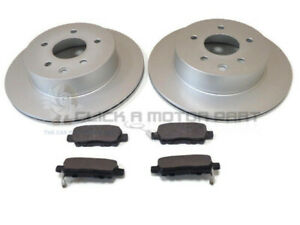 FOR NISSAN X-TRAIL XTRAIL 2001-2015 2.0 2.2 TDCi 2.5 REAR 2 BRAKE DISCS AND PADS