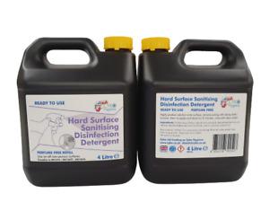 Hard Surface Cleaner - 4 Ltr Refill Sanitising Disinfection Detergent