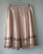Womens Elegant sz 10 Soft Pink Net Bronze Sequin Skirt - As New