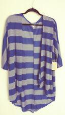 LuLaRoe Lindsay Kimono Blue and Heather Blue Stripe Size M #6057