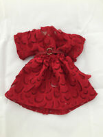Wistful Red DRESS + BELT! - Tonner Ellowyne Wilde doll fashion - red cute