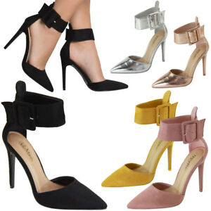 New Pointy Toe Buckle Ankle Strap Stiletto High Heel Classic Pump Sandal Shoe US
