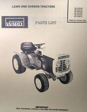 Montgomery Ward Gear & Hydrostatic 16 Garden Tractor Parts Manual 40p GIL-33416A