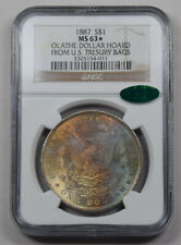 1887 Morgan Dollar NGC MS63* CAC PQ Olathe hoard rainbow Rev.