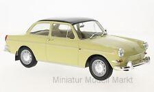 #18089 - McG VW 1500 S (tipo 3) - beige/negro - 1963 - 1:18