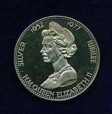 """G.B./U.K./ENGLAND ELIZABETH II  1977  """"SILVER JUBILEE""""  PROOF MEDAL APPROX. 38mm"""