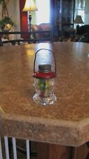 Vintage Glass Candy Container Lantern J. S. Co.  Metal Top & Contents  2 1/2""