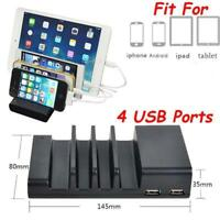4-Port USB Smart IC Fast Multiple Charger Station Charging Dock Organizer Stand