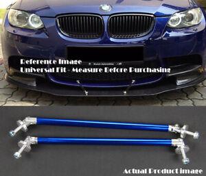 """Blue 9.5"""" Bumper Lip Diffuser Spoiler Splitter Strut Support Rod Bar for VW Po"""