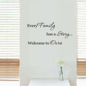 Family Quotes Decal Wall Stickers Art Family Histroy Decoration For Your Home
