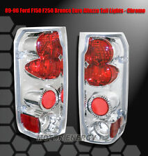 87-96 FORD F-150 F-250 F-350/89+ BRONCO TAIL BRAKE LIGHTS CHROME LEFT+RIGHT PAIR