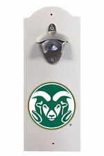 COLORADO STATE UNIVERSITY WALL MOUNTED BOTTLE OPENER-COLORADO STATE RAMS