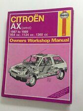 CITROEN AX PETROL 1987 ~ 1989 954 1124 1360 HAYNES SERVICE & REPAIR MANUAL #1470