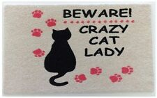 Crazy Cat Lady Welcome Mat Outdoor Rug Doormat Entrance Entry Door Porch Animal