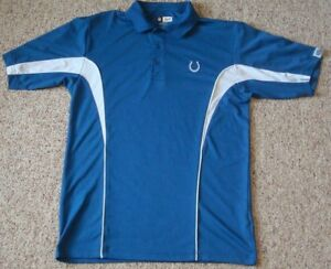 2 Indianapolis Colts Shirts - VF Imagewear - Size Mens M - Polo Golf Sweatshirt