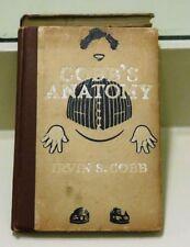 COBB'S ANATOMY ANTIQUE 1912 BOOK BY IRVIN S. COBB