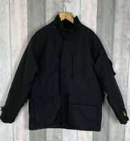 Carhartt Men's Black Cordura Padded Quilted Utility Jacket Coat Size XL